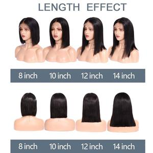 Image 5 - Eseewigs 13x6 Lace Front Human Hair Wigs with Baby Hair Short Bob Straight Cut Middle Part Brazilian Remy for Women