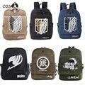 Рюкзак для косплея из аниме «атака на Титанов», Мужская и Женская дорожная сумка с принтом феи и хвоста, подарок