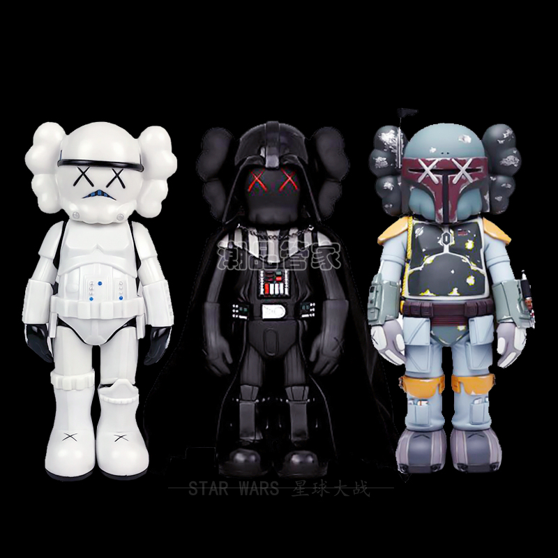 25cm /50cm Cute Doll Imperial Storm Trooper / Darth Vader Black Samurai Anime Figure Kids Collectible Model Doll  Toys