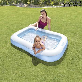 Portable Pools for Kids Inflatable Bathtub Baby Rectangular Swimming Pool Blow Up Kid Pools Hard Plastic Water Toys for Outdoor dark pools