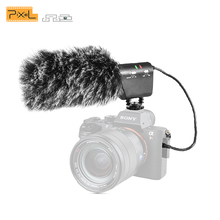 лучшая цена Pixel MC-650 Condenser Video Recording Microphone for Nikon Canon Sony DSLR Camera, Vlogging Interview Microphone