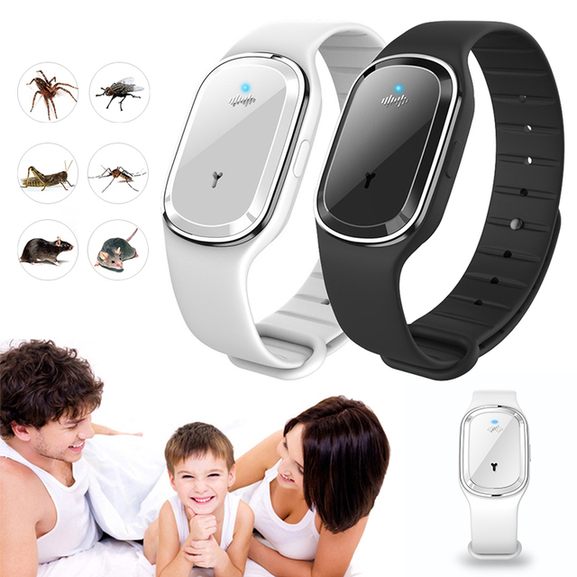 Ultrasonic Anti Mosquito Bracelet Pest Insect Bugs Repellent Bracelet Ultrasound Mosquito Repellent Wristband For Kids Adult 1