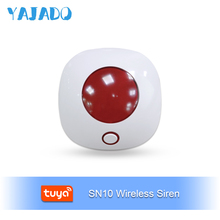 YAJADO Tuya Mini Wireless Indoor Siren Burglar Alarm 110dB Horn for Home Security Alarm System Alarm Speaker APP Remote Control