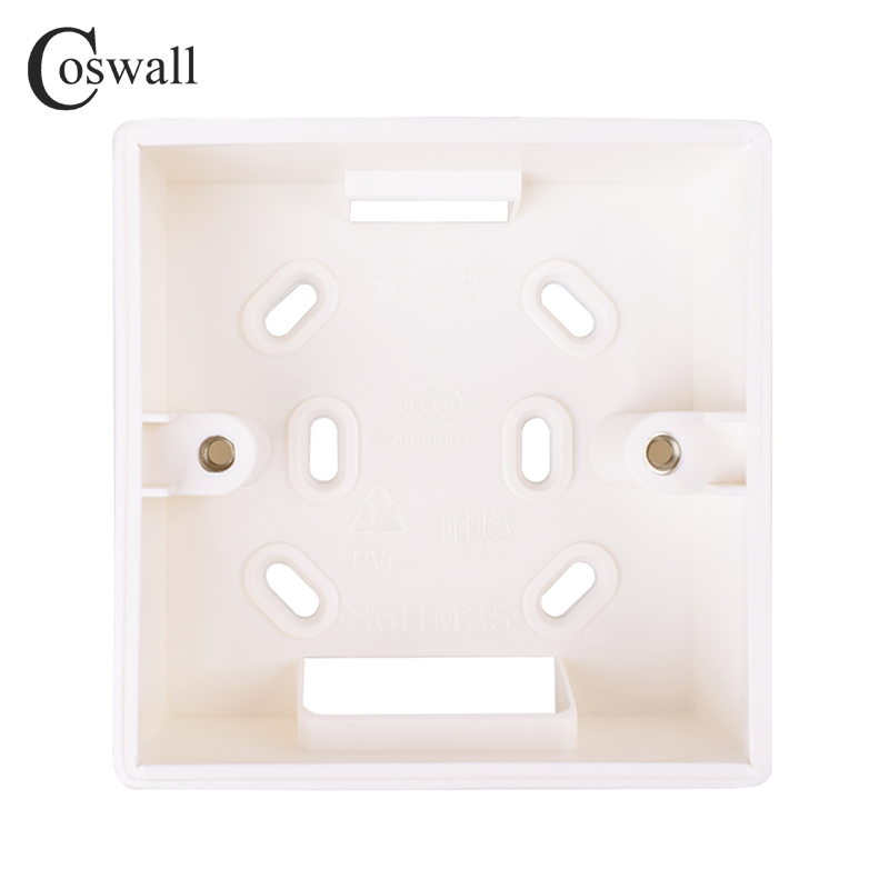 Coswall External Mounting Box 86mm*86mm*33mm For 86mm*86mm Standard Switches And Sockets Apply For Any Position Of Wall Surface