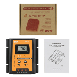 Image 5 - 30A 50A 70A MPPT PWM Solar Charge Controller 12V 24V Dual USB Solar Regulator with Big LCD IP32 PV Battery Controller Load Timer