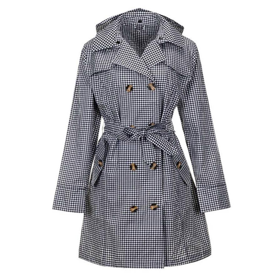 Women Rain Jacket Windbreaker with Hood Waterproof Lightweight Breathable Sport Outdoor Raincoat Hooded Trench Coats Plus Size