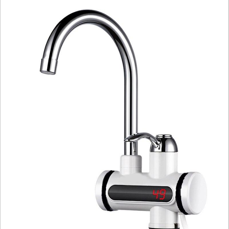 Мгновенный Электрический водонагреватель без резервуара, смеситель для кухни, мгновенный нагрев, водонагреватель с светодиодный штепсельной вилкой европейского стандарта|Электрические водонагреватели|   | АлиЭкспресс