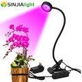 Светодиодная лампа полного спектра для выращивания растений  20 Вт  с держателем-зажимом  светодиодная лампа для выращивания растений  насто...