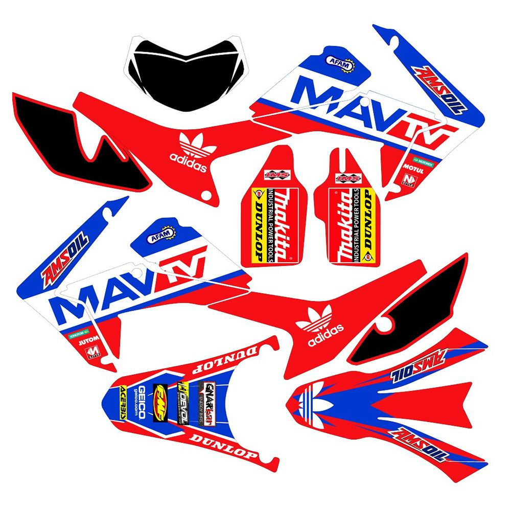 New Full Graphics Decals Stickers Custom Number Name 3M Matte Stickers For HONDA CRF250L 2012 2013 2014 2015 2016 2017