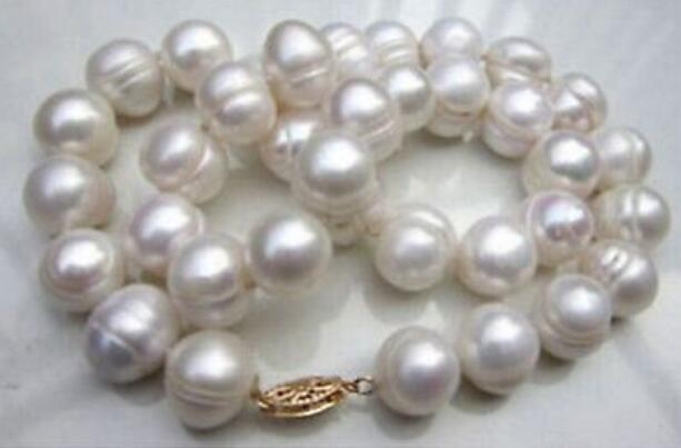 HUGE NATURAL AAA 10-11MM SOUTH SEA WHITE PEARL NECKLACE BRACELET