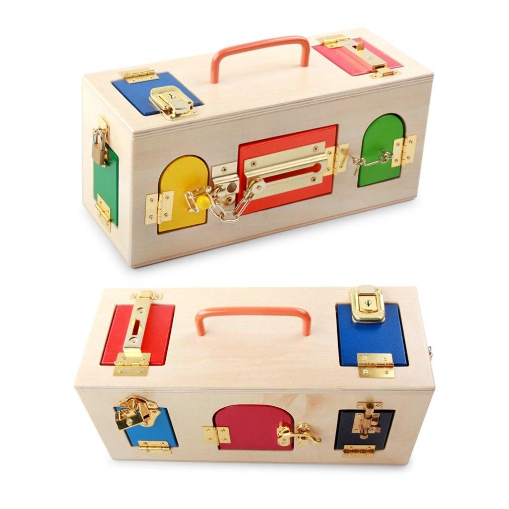 Montessori Teaching Aids Montessori Children Early Education Educational Toys Intellectual Lock Science Lock Box Toy
