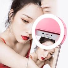 Lamp-Ring Smartphone Fill-Light Led Beauty Selfie YANKE for Photo-Camera Flash-Lens Enhancing