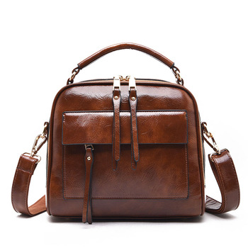 Fashion Cowhide Leather Handbag Luxury Brand Shoulder Bag Large Capacity Solid Color Ladies Handbag Ladies Shoulder Bag Designer фото