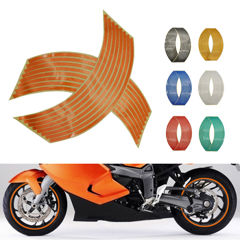 Motorcycle Wheel Sticker 3D Reflective Rim Tape Auto Decals Strips For Honda PCX 125 150 CR 85 F150 125 250 R SL230 CRF450R image