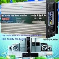 Pure Sine Wave Inverter 12V/24V/48V/60V to 110V 220V 4000W 5000W 6000W Voltage transformer Converter Pure Sine Wave Power solar