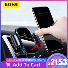 Baseus 15W Draadloze Oplader Auto Mount Voor Air Vent Mount Auto Telefoon Houder Intelligente Infrarood Snelle Draadloze Opladen Lader