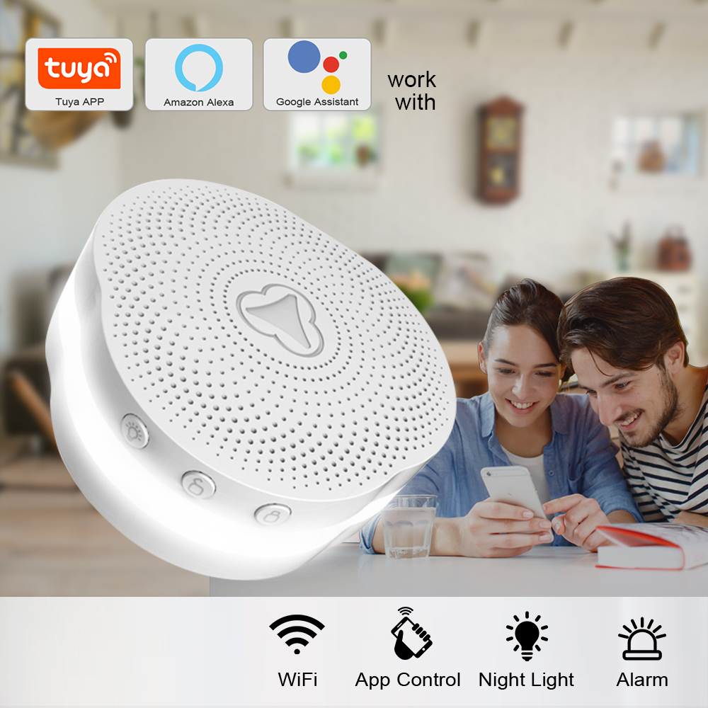 KERUI Multifunctional Gateway Tuya APP Alarm System Home Security Smart Alarm System Work With Google Assistant/Alexa Control