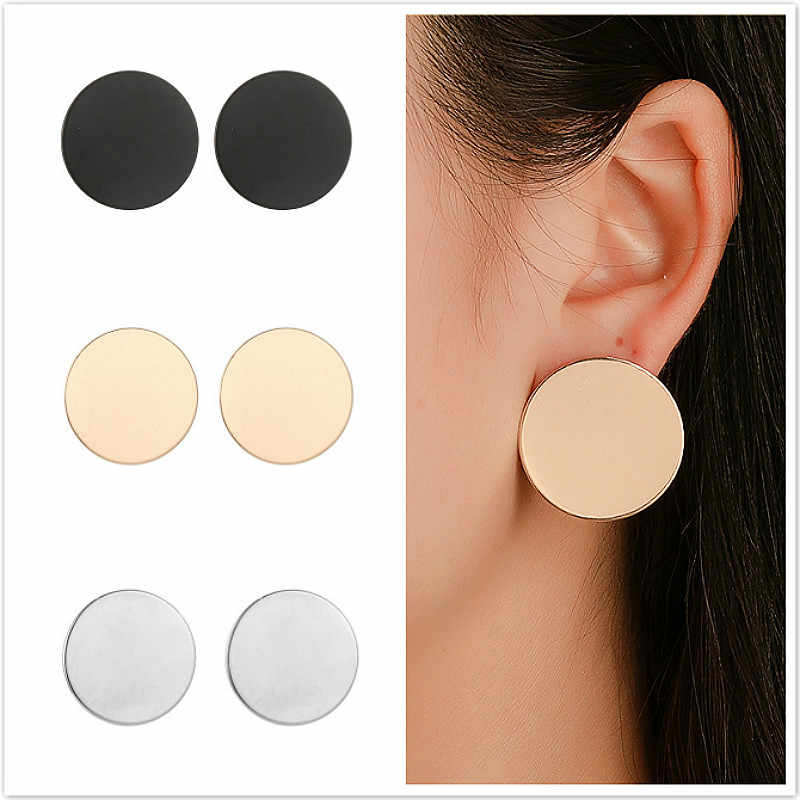 2019 1 Pair Sell Wafer Clip Earrings For Women Golden Color Ball Geometric Earrings For Wedding Jewelry Gift