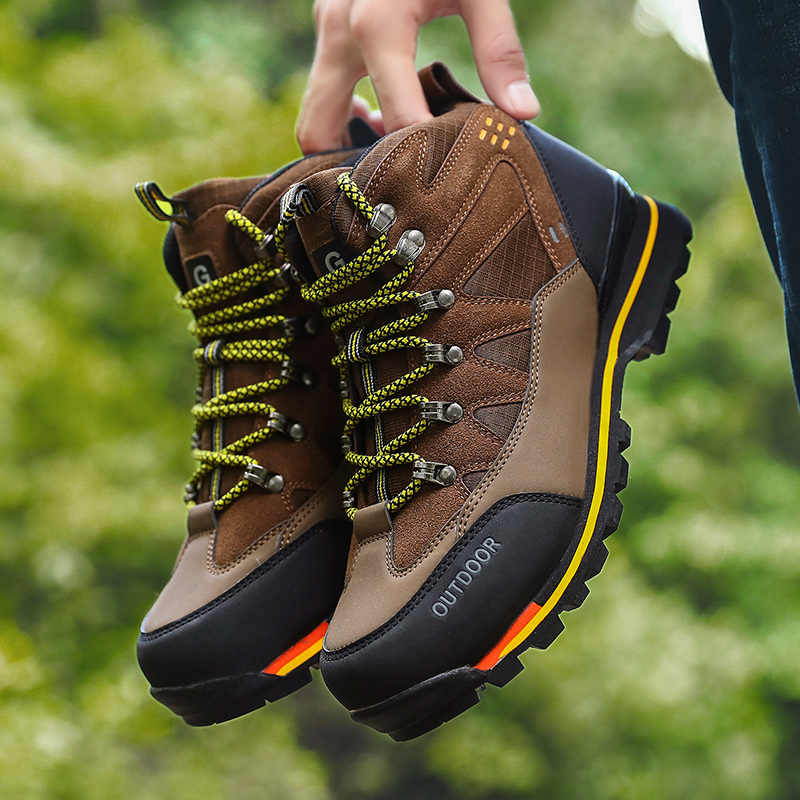 Men High Top Autumn Winter Suede Hiking