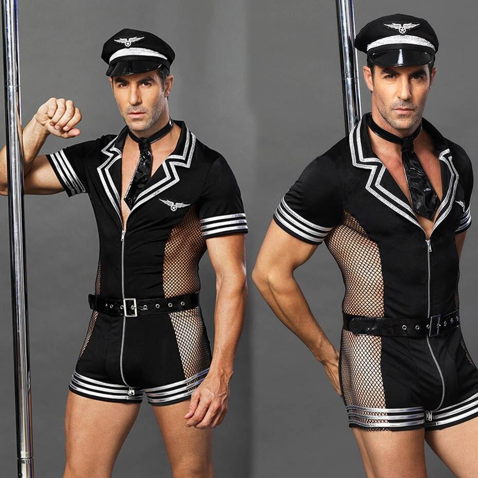 JSY Porno Männer Unterwäsche Sexy Polizei Uniform Cosplay Dessous Set Hot Erotic Kostüme Catsuit Bekleidung Für Sex Rolle Spielen Nachtwäsche