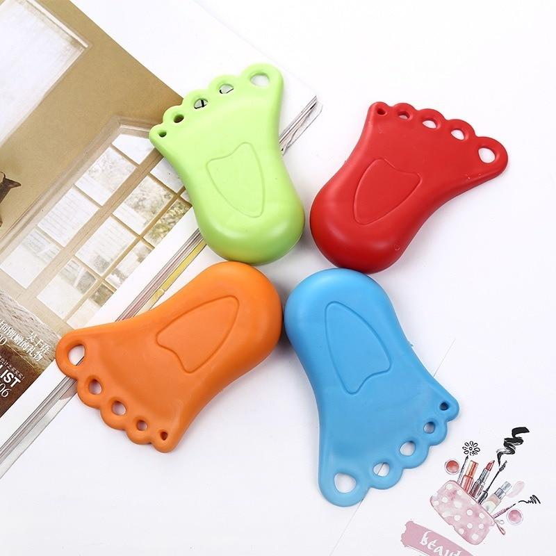 Random Color Creative Door Stopper Foot Shape Door Stoppers Children Security Door Card Christmas Gift For Baby Home Decoration