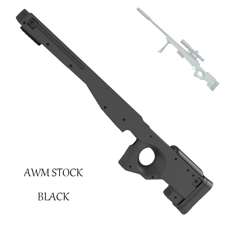 GJ M24 Modified Accessories Water Gun Rear Support Plastic Original Stock AWM Body Shell Children Toys