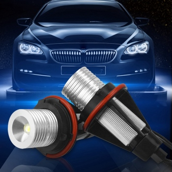 Car Angel Eye Fog Light Xenon White Led Bulb Headlight For Bmw E39 X83 X3 E53 X5 E60 image