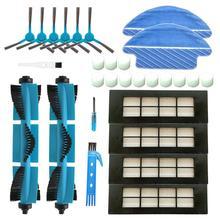 HEPA filtre aksesuarları kitleri için Cecotec Conga 3090 robotlu süpürge ana fırça yedek parçaları yan fırça paspas bezi bezleri