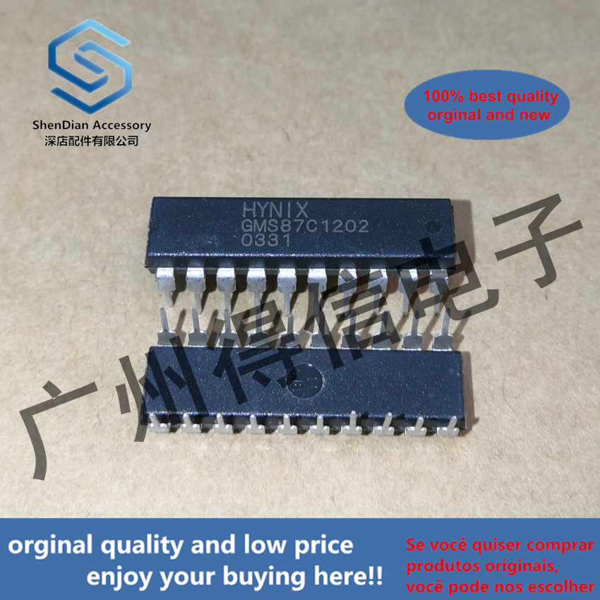 5pcs 100% Orginal New GMS87C1202 Controller IC DIP-20  Real Photo