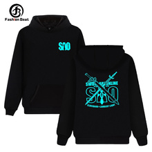Sword Art Online Hoodie Sao Japan Hot Anime Hoodies Kirito Elucidator Dark Repulsor Hoody Black Swordsman Sweatshirt Clothing