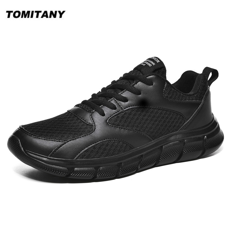 Men Sneakers Breathable Mesh Men Shoes Lace-Up Casual Shoes Men No-slip Lightweight Comfortable Walking Sneakers Tenis Masculino