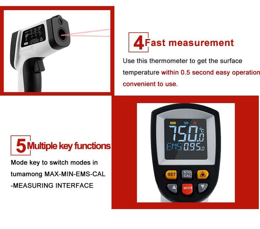 Hddabad4986f344168addf87bcd1fa5639 RZ IR Infrared Thermometer Thermal Imager Handheld Digital Electronic Outdoor Non-Contact Laser Pyrometer Point Gun Thermometer