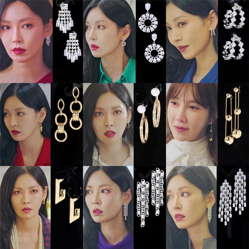 28 стилей 2020 модные новые корейские висячие серьги в стиле «Война в жизни» элегантные серьги для женщин и девушек подвеска в виде капли Ким ...