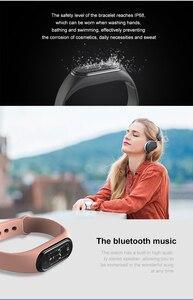 Image 5 - Montre intelligente appel téléphonique écouter musique Bracelet hommes femmes fréquence cardiaque moniteur de sommeil remise en forme rappel M5 étanche montre de sport