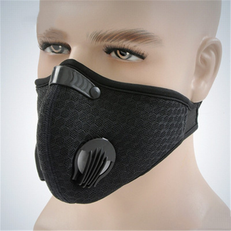 Sports Riding Mask Windproof Dustproof Filters Outdoor Anti Fog Activated Carbon Face Cover Anti-Pollution Breathable Masks