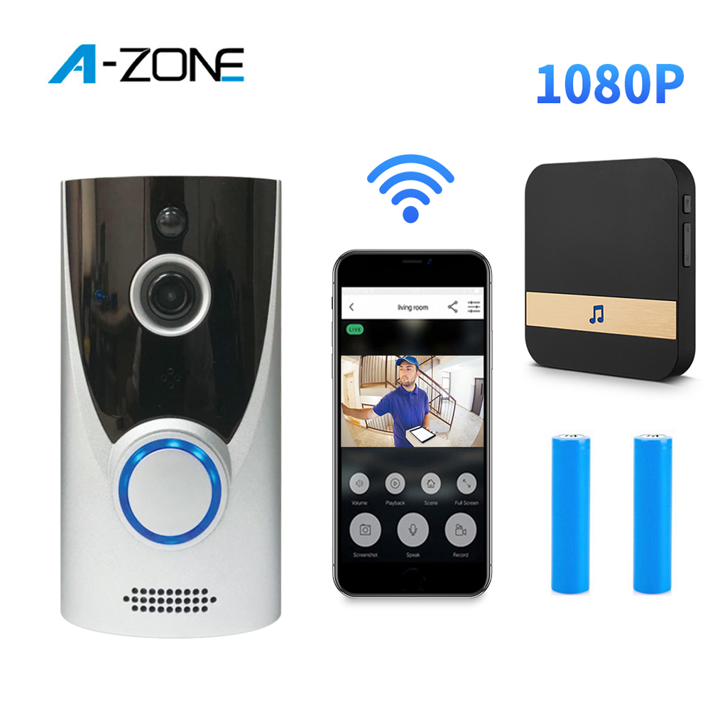 Smart IP Video Intercom With Chime Wireless Door Bell WIFI Doorbell Camera For Apartments IR Alarm Wireless Security Camera