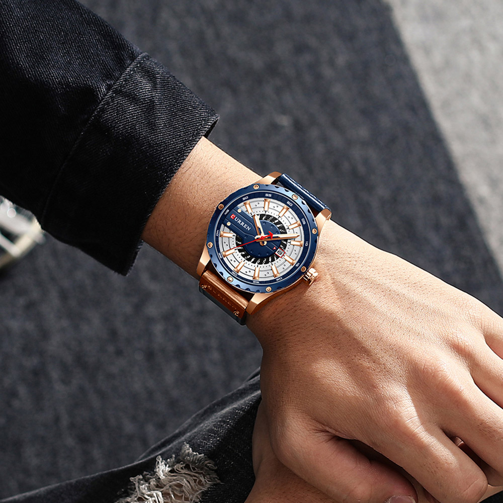 Hddabe6b6f45c4e8bba6460deb01123a93 CURREN Watch Wristwatch  New Chic Luminous hands