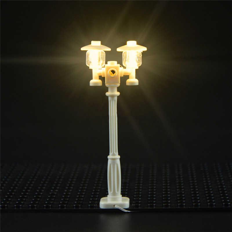 LEpining światła uliczne LED oświetlenie budynku wspieranie ulicy dekoracyjny element oświetleniowy legoinglys i miasto serii cegieł/Model bloku
