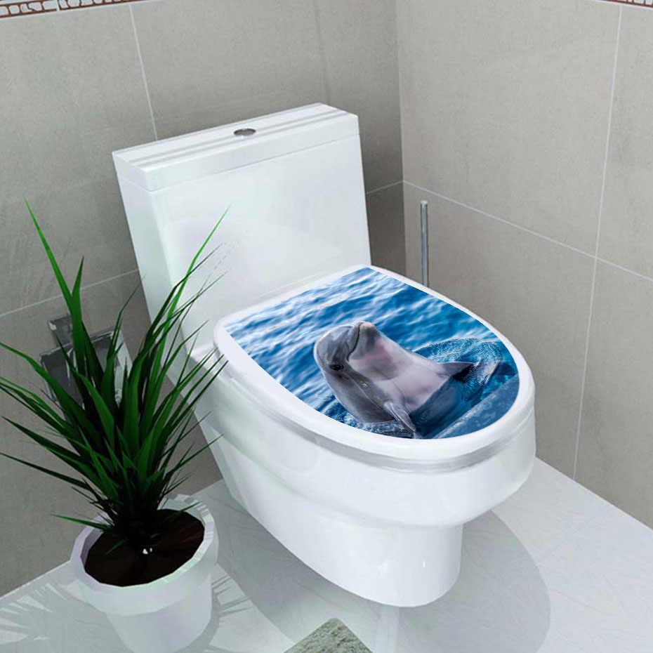 El asiento del Inodoro Pegatinas De Pared Decoración De Baño Papel Tapiz De Vinilo Arte Calcomanías