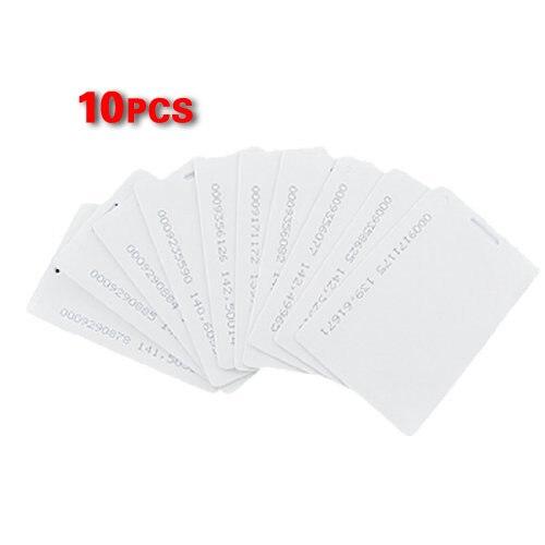 Hot 3C-10 Pcs White 125Khz 1.9mm RFID Access Proximity Card