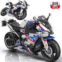 High-tech Motorcycle car Model building blocks  1