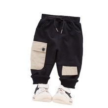 Hot Fashion Children Cotton Clothing New Spring Baby Boys Girls Pocket Pants Kids Infant Cool Clothes Toddler Casual Sportswear