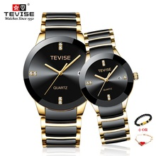TEVISE Gold Men Women Bracelet Watch Lux