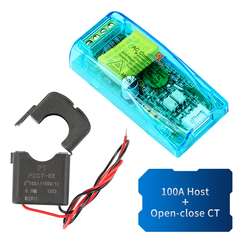 Medidor de potencia digital Monitor 100A Volt/ímetro de CA Amper/ímetro Watt/ímetro Khw Tester Medidor de energ/ía con Split//Coil CT Versi/ón en ingl/és Negro