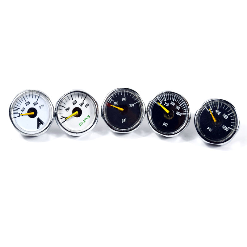 PCP Paintball Airforce High Pressure Gauge 300psi/600psi/1000psi/1200psi