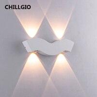 CHILLGIO lampade da parete a LED impermeabili per esterni alluminio esterno IP65 illuminazione giardino cortile DECO interni europa moderna luce interna