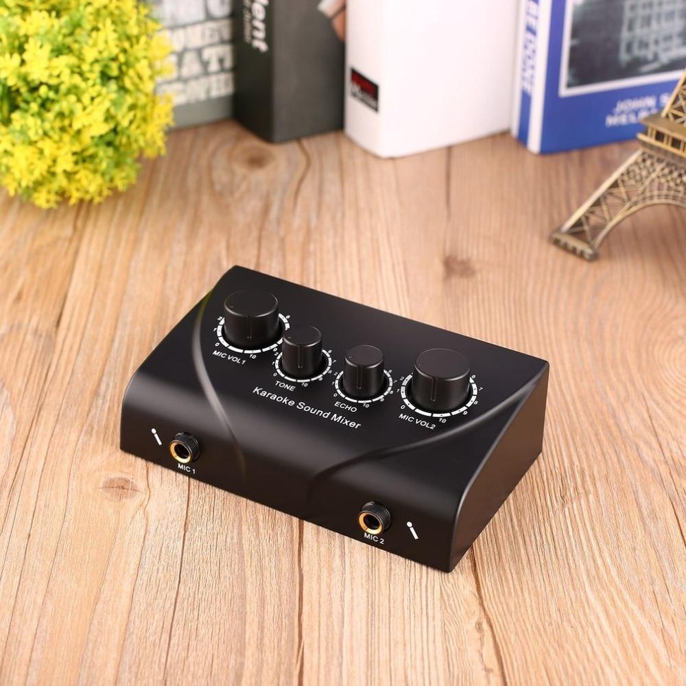Karaoke Sound Mixer Professional Audio System Portable Mini Digital Audio Sound Karaoke Machine Echo Mixer System Dropshipping