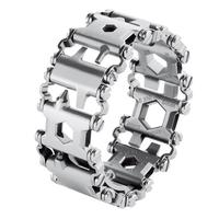 29 in 1 Multi Tool Bracelet Tread Bracelet Stainless Steel Outdoor Bolt Driver Tools Kit Travel Wearable Camping Emergency Kits