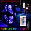 WENNI RGB 빛 스트립 2835 칩 LED 테이프 다이오드 실내 장식 5V 유연한 테이프 방수 RGBW 스트립 원격 제어