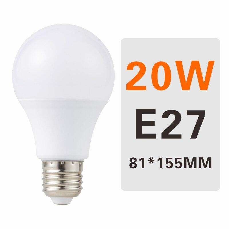 E27 E14 LED Bulb Lamps 3W 6W 9W 12W 15W 18W 20W Lampada Ampoule Bombilla LED Light Bulb AC 220V 230V 240V Cold/Warm White - Испускаемый цвет: 20W E27